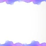 Abstraktes Hintergrundaquarell pastelcolor violettes schönes Bild Lizenzfreies Stockbild