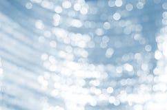 Abstraktes Hintergrundblau bokeh Stockfotos
