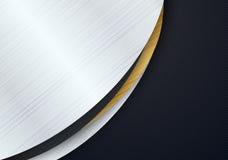 Abstraktes Hintergrunddesign modern mit metallischer Beschaffenheit lizenzfreie abbildung