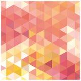 Abstraktes Hintergrundmosaik von Dreiecken Stockbild