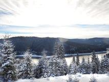Abstraktes Hintergrundmuster der weißen Sterne auf dunkelroter Auslegung Hintergrund des neuen Jahres Winterurlaub Lizenzfreie Stockfotos