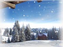 Abstraktes Hintergrundmuster der weißen Sterne auf dunkelroter Auslegung Hintergrund des neuen Jahres Winterurlaub Stockfotografie