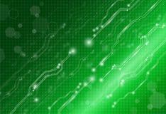 Abstraktes Hintergrundtechnologiekonzept im grünen Licht Lizenzfreie Stockbilder