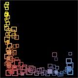 Abstraktes Hintergrundvierecksschwarzes lizenzfreie abbildung