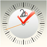 ABSTRAKTES HOURS-SYMBOLS Lizenzfreie Stockbilder