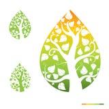 Abstraktes Ikonen-Baum-Hintergrund-Design Lizenzfreie Stockfotos