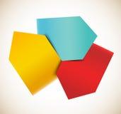 Abstraktes infographic Design Lizenzfreie Stockbilder