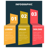 Abstraktes infographic Diagramm Lizenzfreies Stockbild
