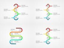 Abstraktes infographics übersichtliches Design Lizenzfreie Stockbilder