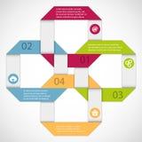 Abstraktes infographics lizenzfreie abbildung