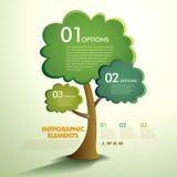 Abstraktes infographics Baum des Vektors Lizenzfreie Stockfotos