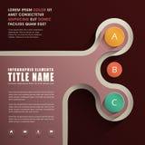 Abstraktes infographics Design Lizenzfreies Stockbild