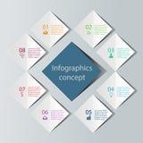 Abstraktes infographics Konzept Stockfotografie
