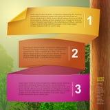 Abstraktes infographics Papier 3d des Vektors Stockfotos