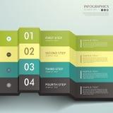 Abstraktes infographics Papier 3d des Vektors Stockbild