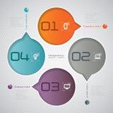 Abstraktes infographics Schablonendesign Stock Abbildung