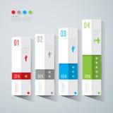 Abstraktes infographics Schablonendesign. Stockfoto