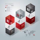 Abstraktes infographics Schablonendesign. Vektor Abbildung