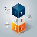 Abstraktes infographics Schablonendesign. Stockfotos