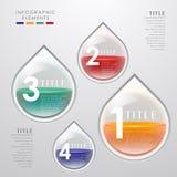 Abstraktes infographics Tropfen 3d des Vektors Stockbild