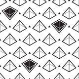 Abstraktes isometrisches nahtloses Muster der Pyramide Lizenzfreies Stockbild