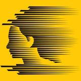 Abstraktes junges Gesicht Lizenzfreies Stockbild