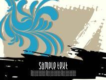 Abstraktes künstlerisches florel mit grunge Hintergrund Stockfotografie