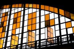 Abstraktes künstlerisches Foto einer Bahnstation Lizenzfreie Stockbilder