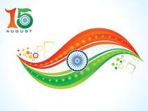 Abstraktes künstlerisches kreatives indisches Flaggenkonzept Stockfotografie