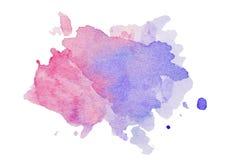 Abstraktes künstlerisches mehrfarbiges Farbenspritzen lokalisiert auf weißem Hintergrund stockfotos