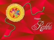 Abstraktes künstlerisches raksha bandhan Hintergrund Lizenzfreie Stockfotografie