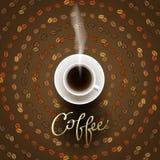 Abstraktes Kaffeedesign stock abbildung