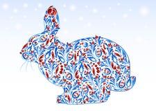 Abstraktes Kaninchen des neuen Jahres Lizenzfreies Stockbild