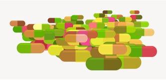 Abstraktes Kapsel-, Medizin- oder Pillenillustrationshintergrundmuster Unordentlich, kreativ, Tapete u. Beschaffenheit lizenzfreie abbildung
