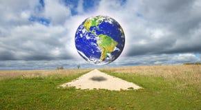 Abstraktes Konzept für Erde, Natur, Religion Stockbilder