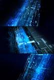 Abstraktes Konzeptset der komplizierten Technologie Stockfoto