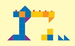 Abstraktes Kranbau-Kastendesign stockfotos