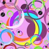 Abstraktes Kreis-Muster nahtlos mit gelegentlicher Farbe Lizenzfreie Stockfotos