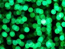 Abstraktes kreisförmiges grünes bokeh Lizenzfreies Stockbild
