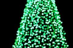 Abstraktes kreisförmiges grünes bokeh Teil des Weihnachtsbaums Lizenzfreie Stockbilder