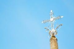 abstraktes Kreuz in Italien der Himmel Lizenzfreies Stockbild