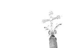 abstraktes Kreuz in Italien der Himmel Lizenzfreie Stockfotografie
