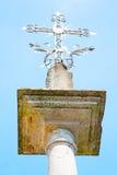 abstraktes Kreuz in Italien Europa Stockfoto
