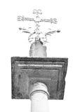 abstraktes Kreuz in Italien Europa und der Himmelhintergrund Lizenzfreies Stockbild