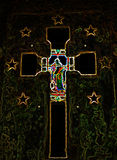 Abstraktes Kruzifix-Kreuz Lizenzfreies Stockfoto