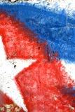 Abstraktes kubanisches Markierungsfahnen-Detail Stockbild