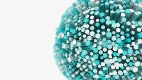 Abstraktes kugelförmiges Konzept der Explosion 3D Stockbild