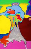 Abstraktes Kunstwerk der gemischten Medien Stockbild