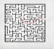Abstraktes Labyrinth Stockbild
