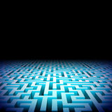 Abstraktes Labyrinth in der Dunkelheit stock abbildung
